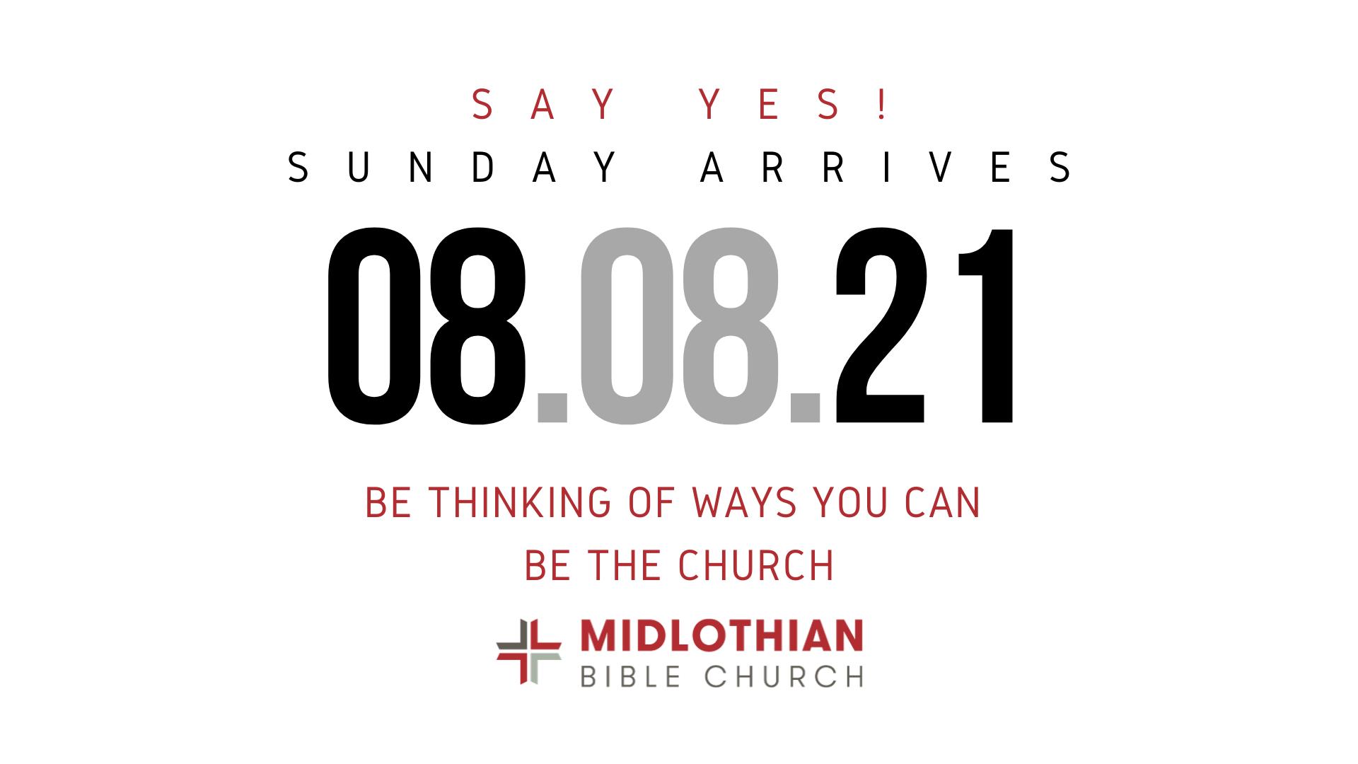 BSA-Say Yes! Sunday 2021